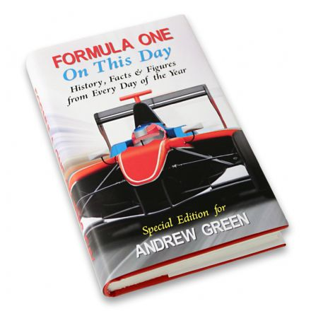 Personalised Book - Formula 1 On This Day